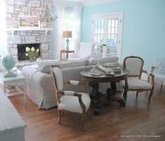 Maybe color for dining room? It will make the fireplace really pop.