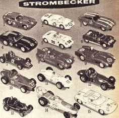 Strombecker Slot Racing Cars From The 1960s