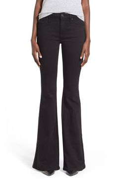 Hudson Jeans 'Natasha' Flare Jeans (Black) available at #Nordstrom