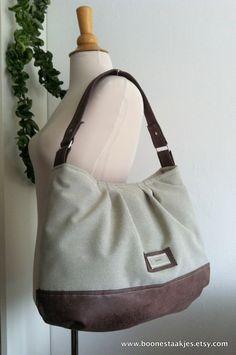 Handbag purse shoulder bag everyday bag in by boonestaakjes, $79,00
