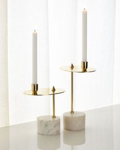 Shop Counter Balanced Candleholders, Set of 2 from John-Richard Collection at Horchow, where you'll find new lower shipping on hundreds of home furnishings and gifts. Red Home Accessories, Decorative Accessories, Bathroom Accessories, Decorative Items, Chandelier Design, Marble Candle, Marble Lamp, Marble Tray, Carrara Marble