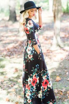 Ella Maxi Dress - Black