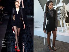 Nina Dobrev In Diane von Furstenberg – StyleWatch x Revolve Fall Fashion Party