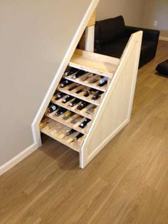 Best hidden storage closet under stairs Ideas Staircase Storage, Basement Storage, Basement Stairs, House Stairs, Office Storage, Closet Storage, Storage Room, Furniture Storage, Storage Hacks