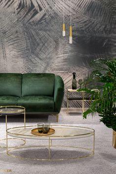 #kler #meblekler #klermeble #klerdesign #designkler #excellence #klerexcellence #wnętrza #Gondoliere #green #zieleń #zielonyakcent #złoto #gold #new  #sofa #salon #projektowanie #design #meble #dom #komfort #jakość #quality #wypoczynek #styl  #style #modern #relaks #relax #furniture #furnituredesign #interior #interiordesign #home  #dom #dodatki #dekoracje #homedecor #stolik #stolikkawowy #coffeetable Interior Decorating, Interior Design, Beautiful Bedrooms, Bedroom Colors, Love Seat, Furniture Design, Couch, Relax, Concept