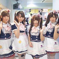 Cute girls dressed like maids serve kawaii foods and desserts. Pay extra for alcohol, pictures, and performances. Maid Cosplay, Cute Cosplay, Cosplay Girls, Cute Girl Dresses, Girl Outfits, Cute Outfits, Lolita Fashion, Girl Fashion, Lolita Mode