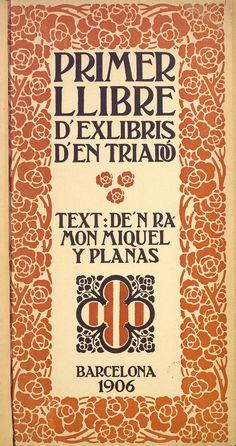 Portada de Primer llibre d'exlibris d'en Triadó, 1906