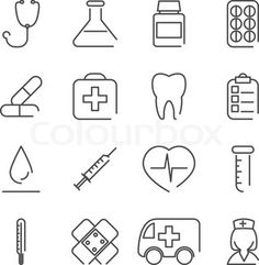 Medical icons. Flat design. The best images and vectors graphic only with Colourbox.