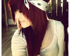 Dark red and bandana