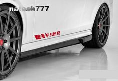 RACING EDITION Decal sticker emblem Sport Car logo RED Pair (Fits: MITSUBISHI  #natash777