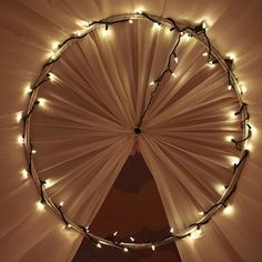 Use a hula hoop and fabric for a DIY canopy. | 16 DIYs You Can Make With Old Toys Because Growing Up Is Overrated