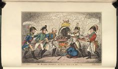 1 April 1814:Bodleian Libraries, The allied bakers or- the Corsican toad in the hole.Satire on Napoleon's defeat and abdication in 1814. (British political cartoon)