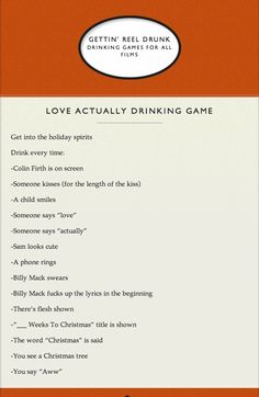 Love Actually drinking game!