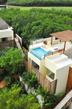 The hotel is surrounded by lush greenery and mangroves. #Jetsetter Farimont Mayakoba (Playa del Carmen, Mexico)