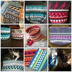 schoenstricken.de | Taschen Crochetalong Teil 4 Tapestry Crochet, Knit Crochet, Collage, Wale, Crochet Purses, Crochet Bags, Coin Purse, Textiles, Knitting