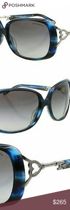 Tiffany and Co Sunglasses New and authentic Tiffany and Co Sunglasses  Ocean blue frame  Original case,  cloth and box included Tiffany & Co. Accessories Sunglasses