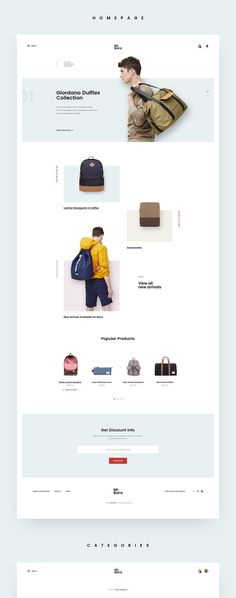 A new homepage for Mr.Bara Concept for backpack store online.Do you want get WordPress version of this design? Please leave subscribe my newsletter below:https://goo.gl/ED11W0Thank you for watching !