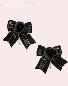 Innocent World Twin Clip with Little Star Rhinestone - Black×Black