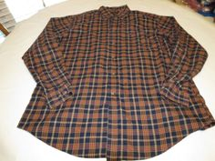 Faconnable Dsignd in France XLL Mens long sleeve plaid button shirt cotton EUC@ #Faonnable #ButtonFront