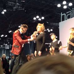 My girl Ashley on stage in NYC @ IBS hair show! #model #martino #longbob #runway #superfun