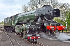 Steam Trains Uk, Old Trains, Vintage Trains, Flying Scotsman, Steam Railway, Railroad Photography, Train Pictures, Empire, Steam Engine
