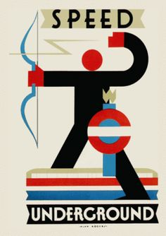London Underground Poster - SPEED - Tube Map - 1930s Vintage