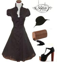 Vintage style 50's Bolero dress
