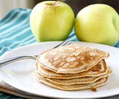Apple Cinnamon Pancakes. Made these -- they were excellent! Added vanilla. Would probably halve the apple sauce next time b/c they took a long time to cook through. Made apple syrup to go on top. Yum!