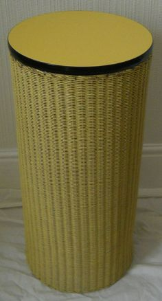 IT HAS A SOLID LID WITH A YELLOW FORMICA WIPE-CLEAN TOP. SIZE IS APPROX 62cm HIGH AND 29cm IN DIAMETER. | eBay!