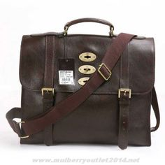 d67e2d3fe515 MK 2014 Mulberry Mens Ted Natural Leather Messenger Bag Dark Coffee For  Wholesale