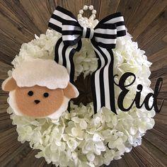 Eid Sheep wreath    #Eid #EidAdha #sheep #EidMubarak  https://www.etsy.com/shop/Crownyouroccasions