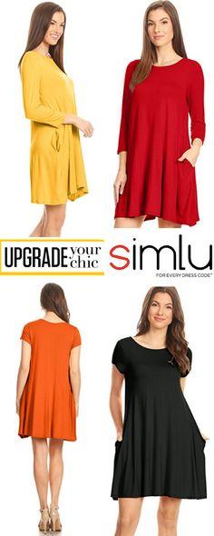 $4.99 - $24.99  Simlu Womens Plain Tee Shirt