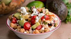 Avocado Chickpea Salad With Chili Lime Dressing #TastyFreshFriday (scheduled via http://www.tailwindapp.com?utm_source=pinterest&utm_medium=twpin&utm_content=post156159423&utm_campaign=scheduler_attribution)