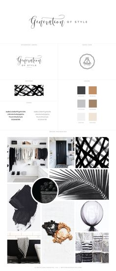 Generation of Style Branding Inspiration by White Oak Creative - logo design, wordpress theme, mood board inspiration, blog design idea, graphic design, branding, fashion blog design, style blog design