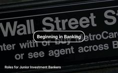 Roles for #Junior #Investment #Bankers 🏦 https://tapwage.com/channel/beginning-in-banking