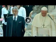 Andrea Bocelli conmueve al Papa Francisco al cantar Amazing Grace
