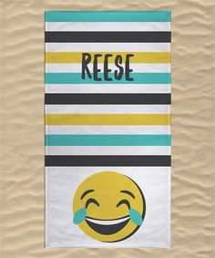 Cry Laugh Personalized Towel