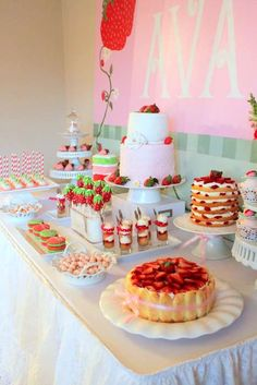 Strawberry Shortcake Birthday Party Ideas | Photo 1 of 21 | Catch My Party