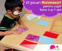 10 jocuri Montessori pentru copii intre 3 si 7 ani pedagogia Montessori, materiale Montessori, idei Montessori, jocuri Montessori