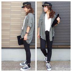 コーデの記録😊 ・ tops#ozoc bottoms#uniqlo  shirt#nicoand  bag#ozoc shoes#converse  pierce#ozoc bangle#discoatparisien ・ #カーキ#オーバーサイズ #code #cordinate #outfit #プチプラコーデ#fashion#fashionpost #コーデ#コーディネート#ママコーデ#wear#ママファッション#今日のコーデ #今日の服#uniqlo #ユニクロ#ユニジョ#大人カジュアル #カジュアル#シャツ#キャスケット