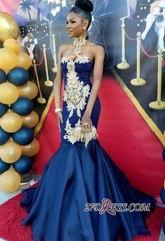 custom made this high neck mermaid dark navy prom dress in high quality, we sell dresses online all over the world. Also, extra discount are offered to our customers. We will try our best to satisfy everyone and make the dress fit you well Navy Prom Dresses, African Prom Dresses, Prom Outfits, Dresses Short, African Dress, Formal Dresses, Wedding Dresses, Bridesmaid Dresses, Blue Mermaid Prom Dress
