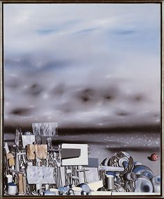 The Mirage of Time  Artist:Yves Tanguy (American (born France), Paris 1900–1955 Woodbury, Connecticut) Date:1954 Medium:Oil on canvas Dimensions:39 x 32 in. (99.1 x 81.3 cm) Classification:Paintings