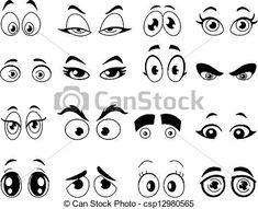 Ojos de dibujos animados   Pinteres