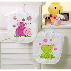 Dimensions® Stamped Cross Stitch Kit, Baby Fairy Bibs