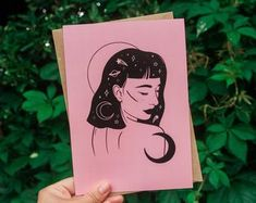 Disney Characters, Fictional Characters, Aurora Sleeping Beauty, Stationery, Disney Princess, Unique Jewelry, Handmade Gifts, Moon, Vintage