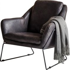 Carlton Leather Armchair ($1,505) ❤ liked on Polyvore featuring home, furniture, chairs, accent chairs, fillers, interior, occasional chairs, leather occasional chairs, mid-century modern furniture and mid century leather chair