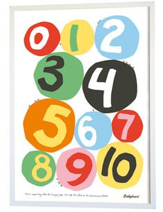 Poster Numbers, by Camilla Lundsten