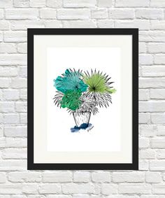 Fan Palm Print, fan Palm Wall Art, home decor, gift idea, Indoor Plant Art Fan Palm, Plant Art, Palm Print, Sign Printing, Cafe Design, Indoor Plants, Etsy Store, Houston, Art Prints