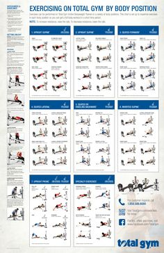 Total Gym Exercises Printable | Total Gym Incline Bodyweight Trainer Exercise Chart_Spec
