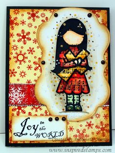 inspiredstamps.blogspot.com, christmas, copic coloring, stickles, bazzill papers Copic, Stamps, Coloring, Snoopy, Bible, Paper, Blog, Cards, Christmas